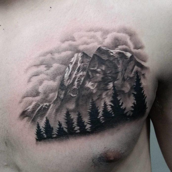 29 7 - 40 Tatouages Montagne pour Homme