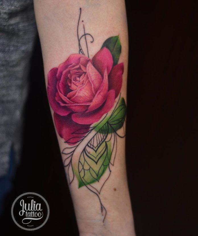 30 - 100 Tatouages Rose pour Femme