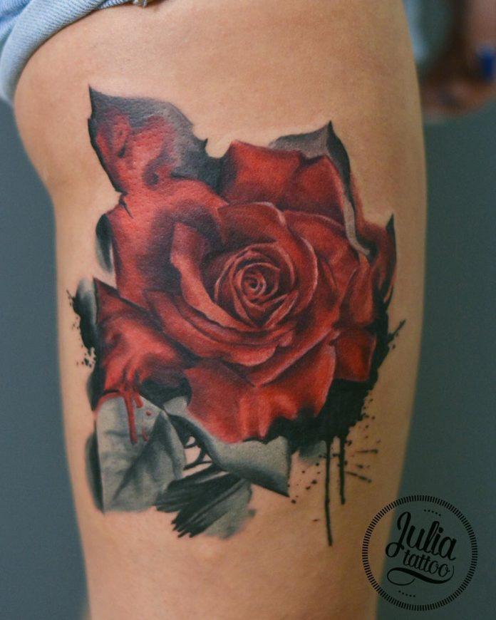 31 2 - 100 Tatouages Rose pour Femme