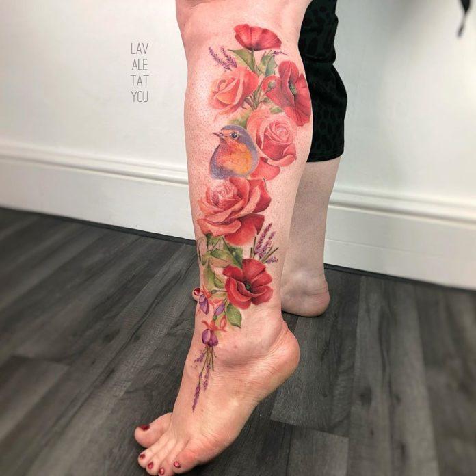 32 1 - 100 Tatouages Rose pour Femme