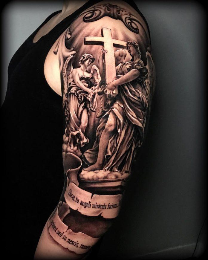 33 3 - 40 Tatouages Croix pour Homme
