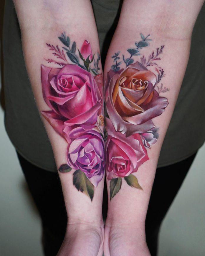 36 20 - 100 Tatouages Rose pour Femme