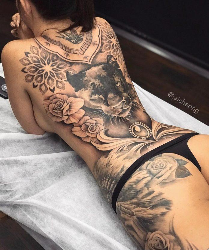39 1 - 100 Tatouages Rose pour Femme