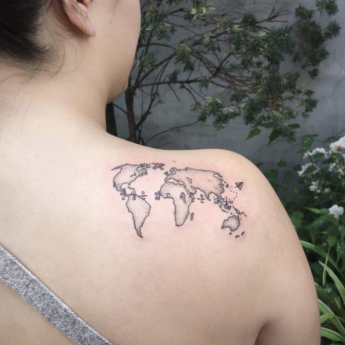 39 14 - 40 Tatouages Carte du Monde