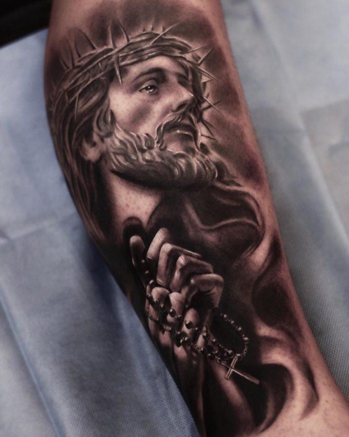 4 3 - 40 Tatouages Croix pour Homme