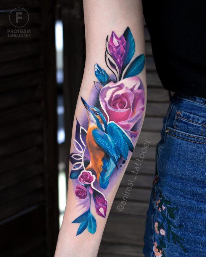 4 36 - 100 Tatouages Rose pour Femme