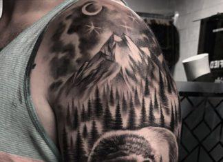 Tatouage Montagne pour Homme