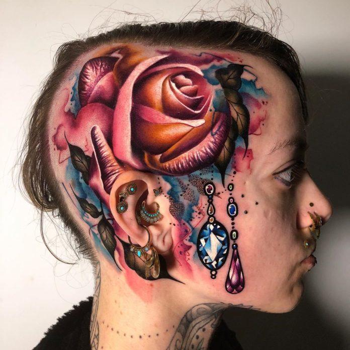41 3 - 100 Tatouages Rose pour Femme