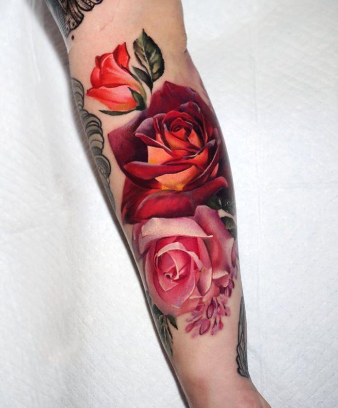 45 1 - 100 Tatouages Rose pour Femme