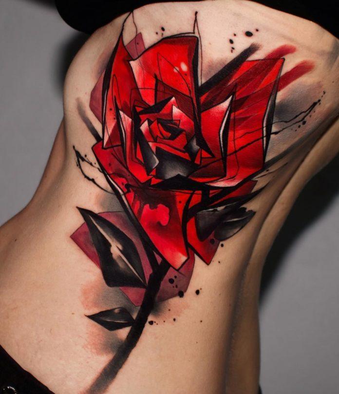 54 2 - 100 Tatouages Rose pour Femme