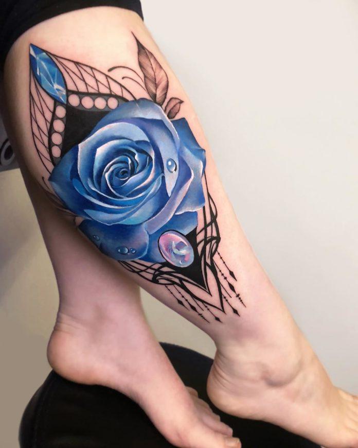 56 1 - 100 Tatouages Rose pour Femme