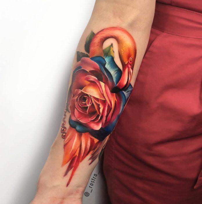 58 - 100 Tatouages Rose pour Femme