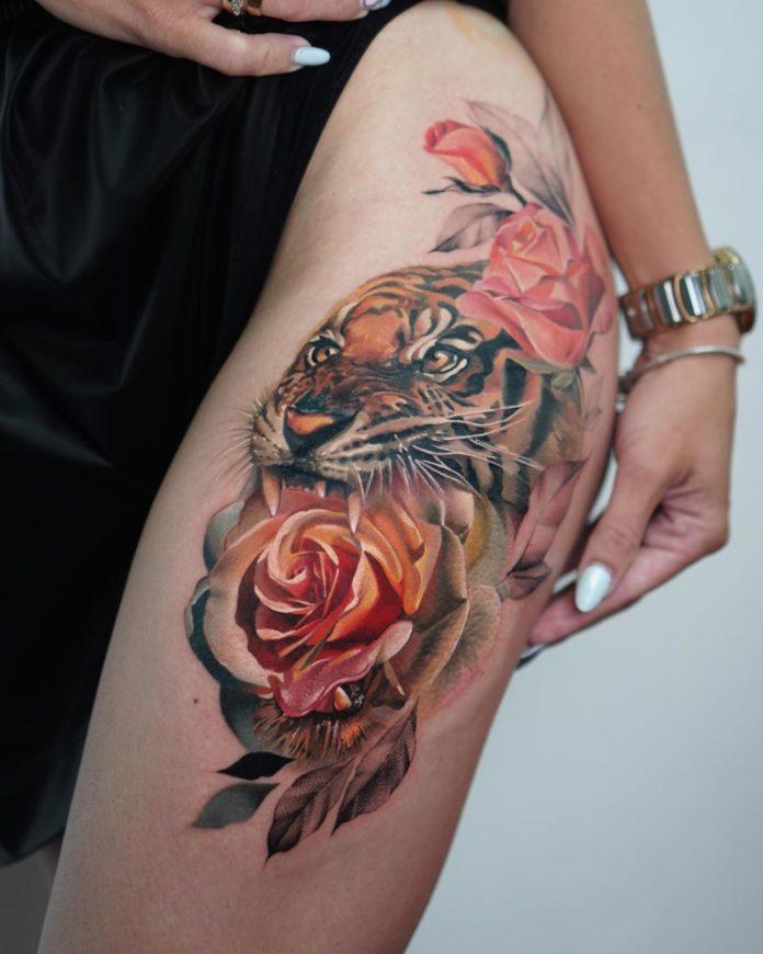 59 1 - 100 Tatouages Rose pour Femme