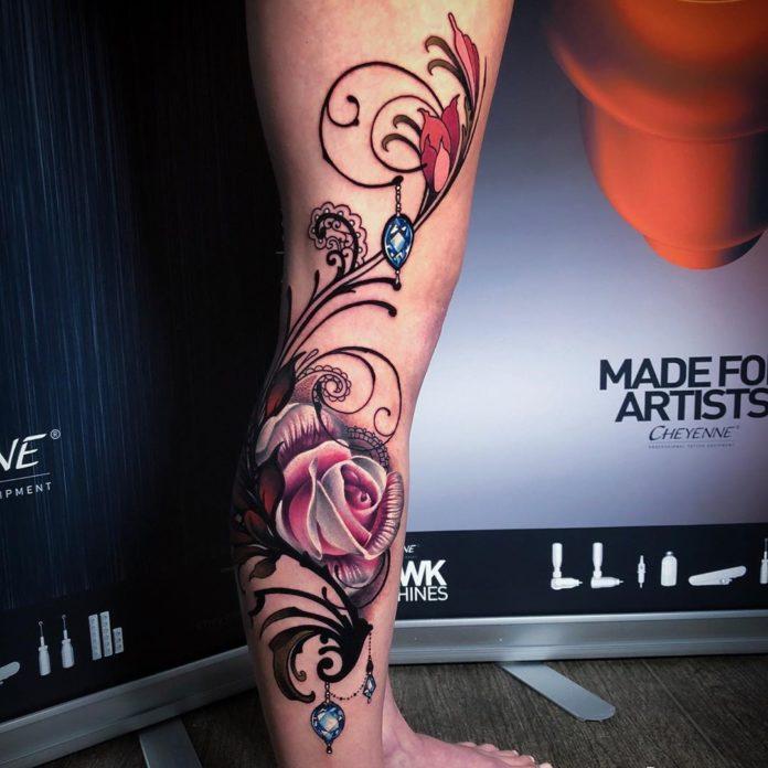 6 9 - 100 Tatouages Rose pour Femme