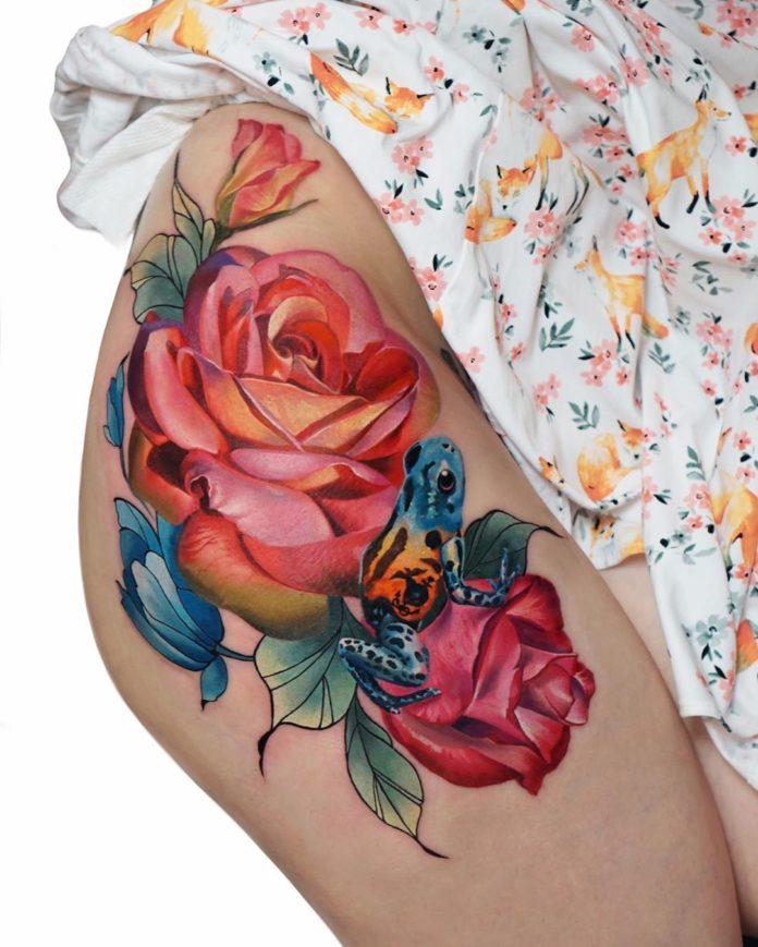 61 1 - 100 Tatouages Rose pour Femme