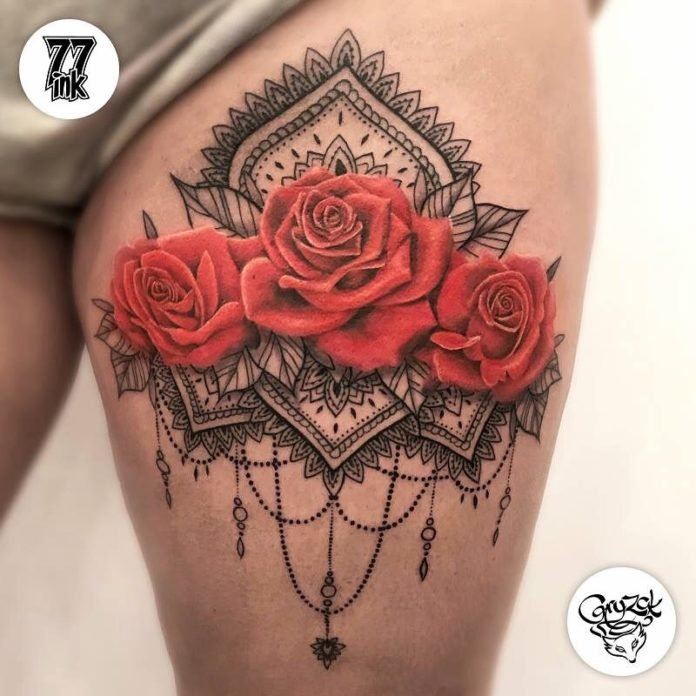 71 - 100 Tatouages Rose pour Femme