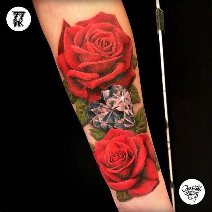 84 2 - 100 Tatouages Rose pour Femme