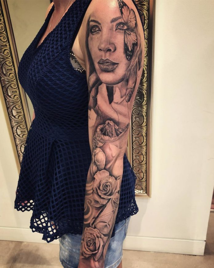 88 2 - 100 Tatouages Rose pour Femme