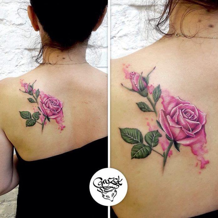 90 - 100 Tatouages Rose pour Femme