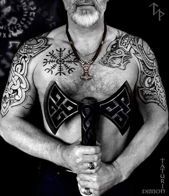 52 1 - 80 Tatouages Viking pour Homme