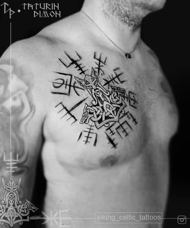 56 1 - 80 Tatouages Viking pour Homme