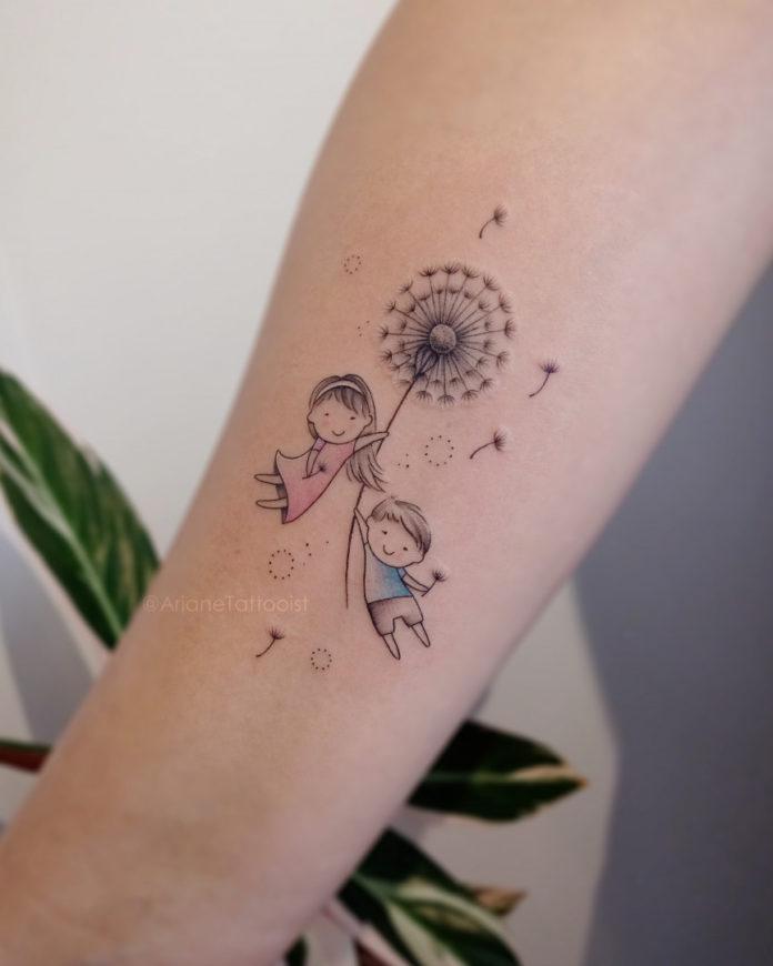 tatouage pissenlit - TATOUEZ